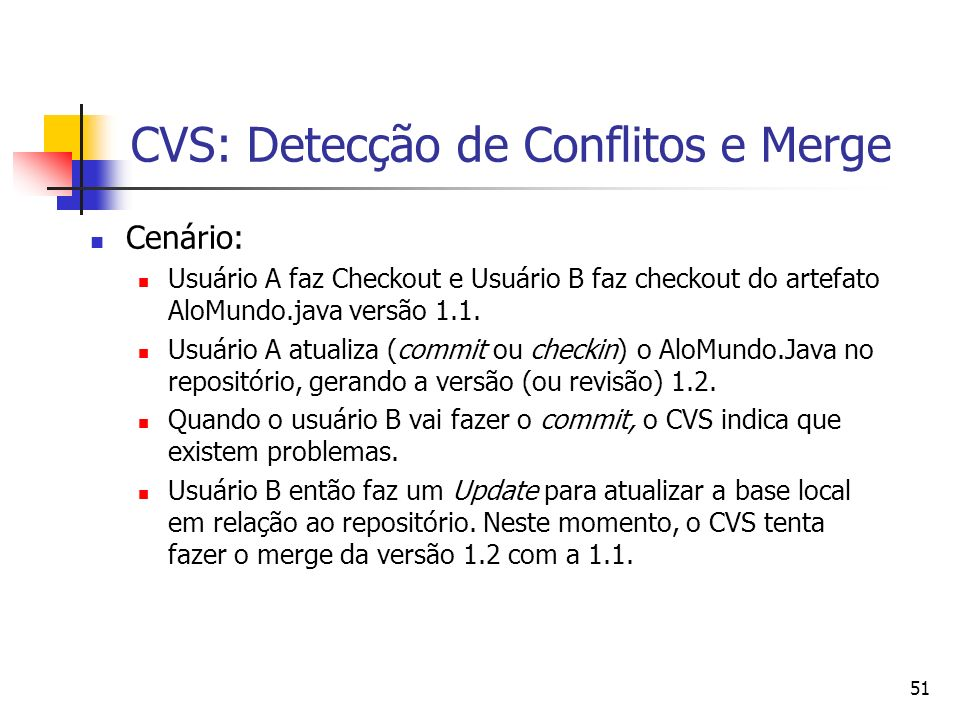 CVS: Detecção de Conflitos e Merge