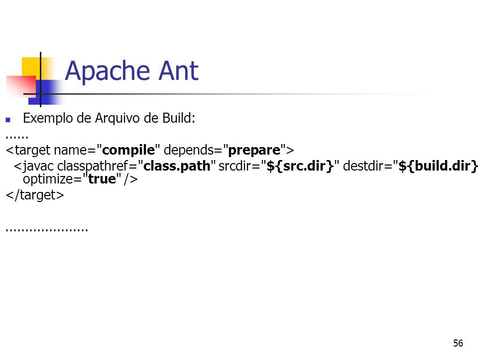 Apache Ant Exemplo de Arquivo de Build: ......