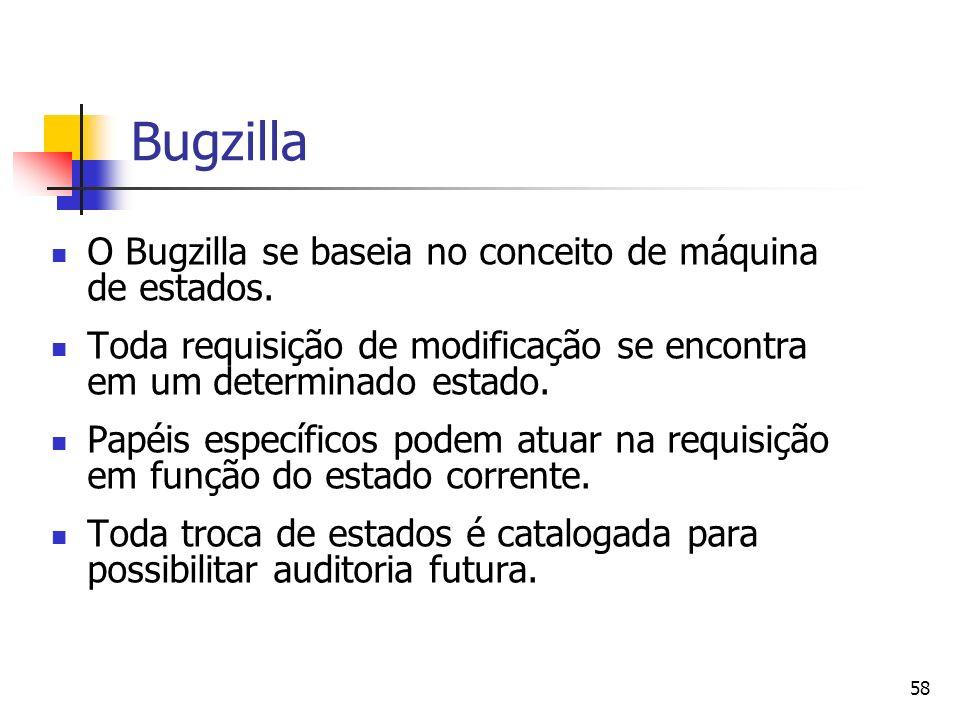 Bugzilla O Bugzilla se baseia no conceito de máquina de estados.