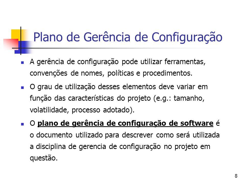 Plano de Gerência de Configuração
