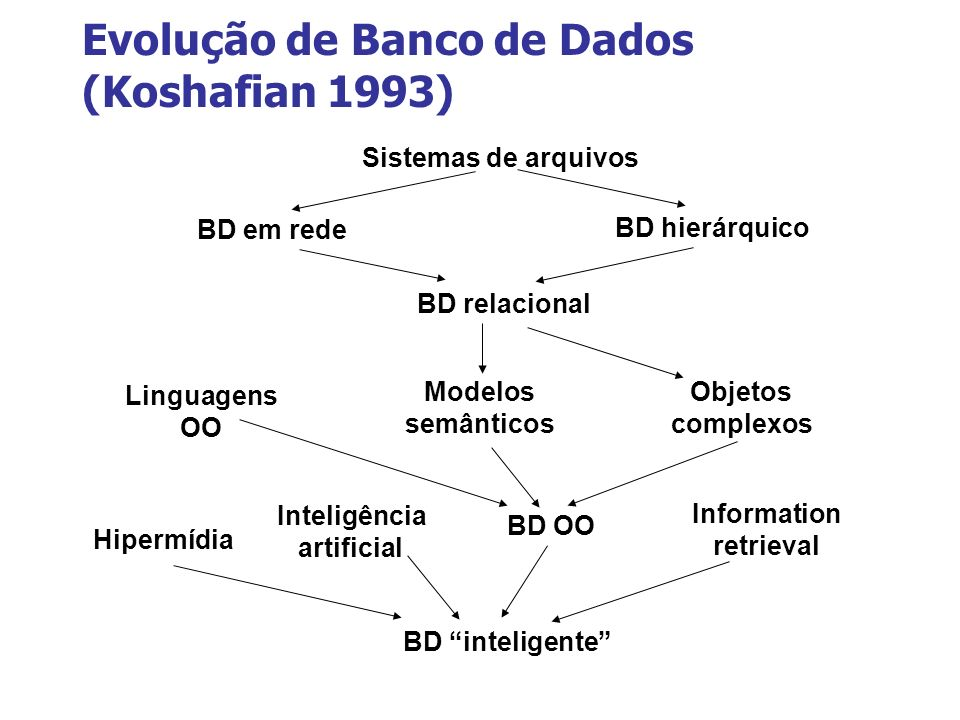 Evolução de Banco de Dados (Koshafian 1993)