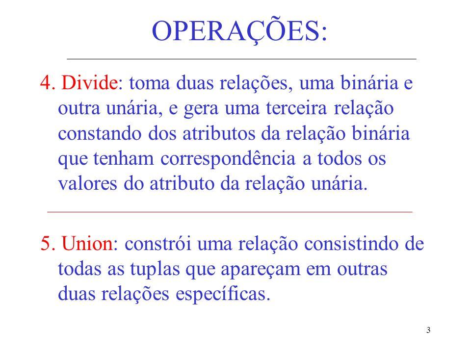 OPERAÇÕES:
