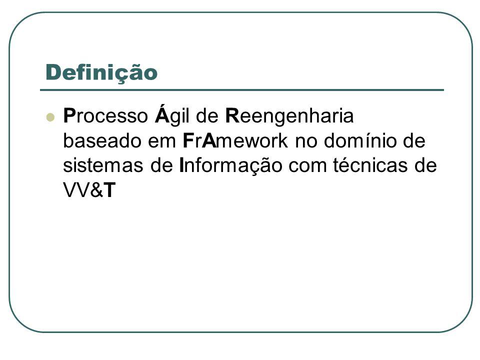 Definição Processo Ágil de Reengenharia baseado em FrAmework no domínio de sistemas de Informação com técnicas de VV&T.
