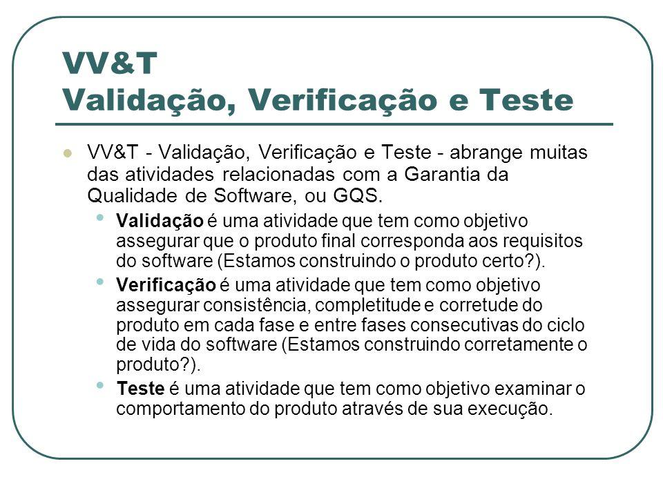 VV&T Validação, Verificação e Teste