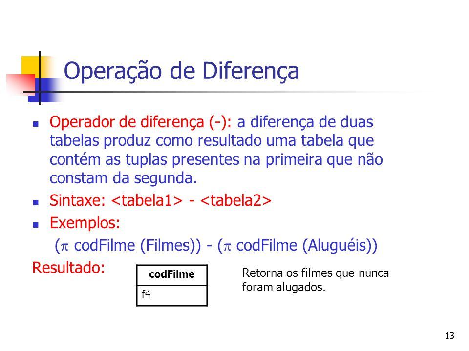 Operação de Diferença