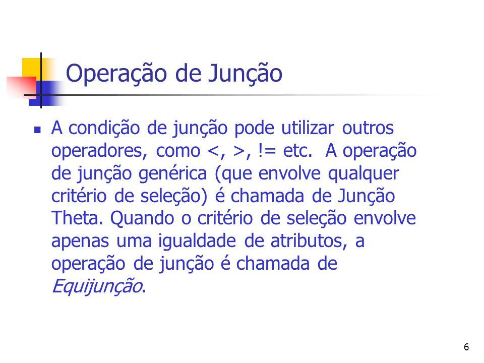 Operação de Junção