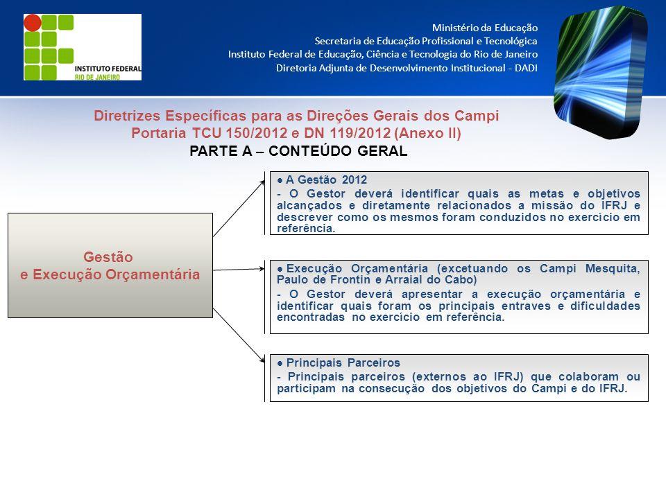 Diretrizes Específicas para as Direções Gerais dos Campi