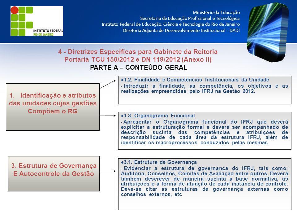 4 - Diretrizes Específicas para Gabinete da Reitoria