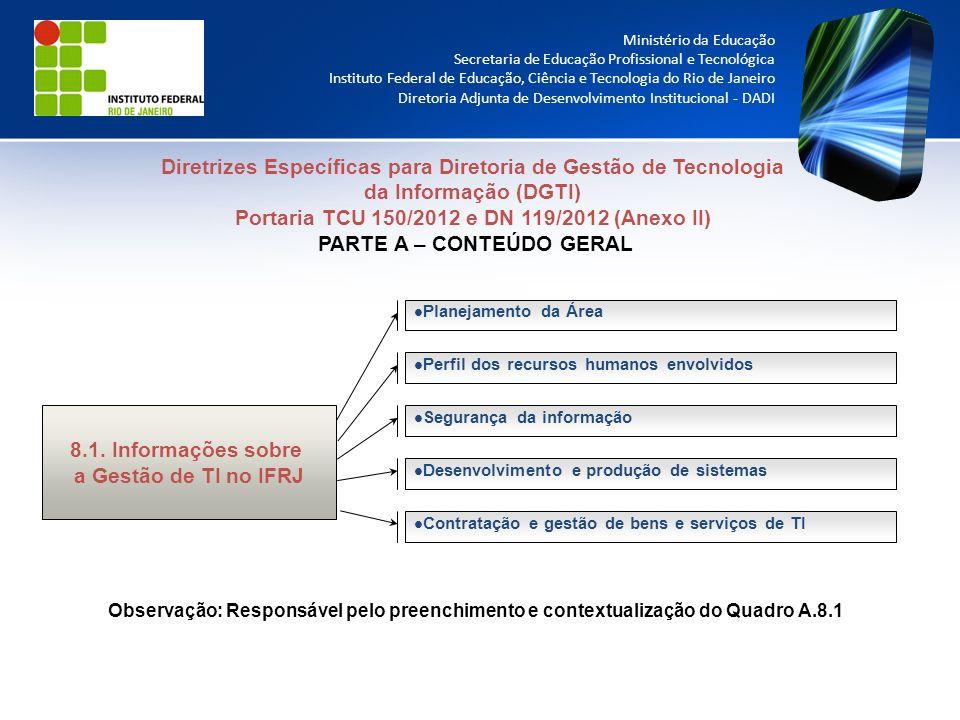 Diretrizes Específicas para Diretoria de Gestão de Tecnologia