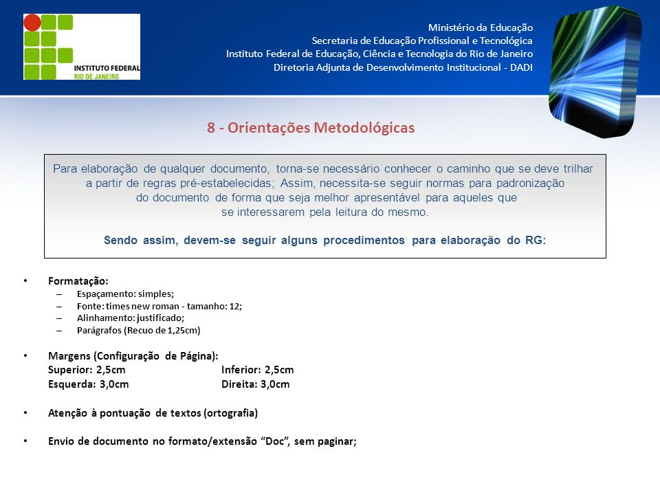 8 - Orientações Metodológicas