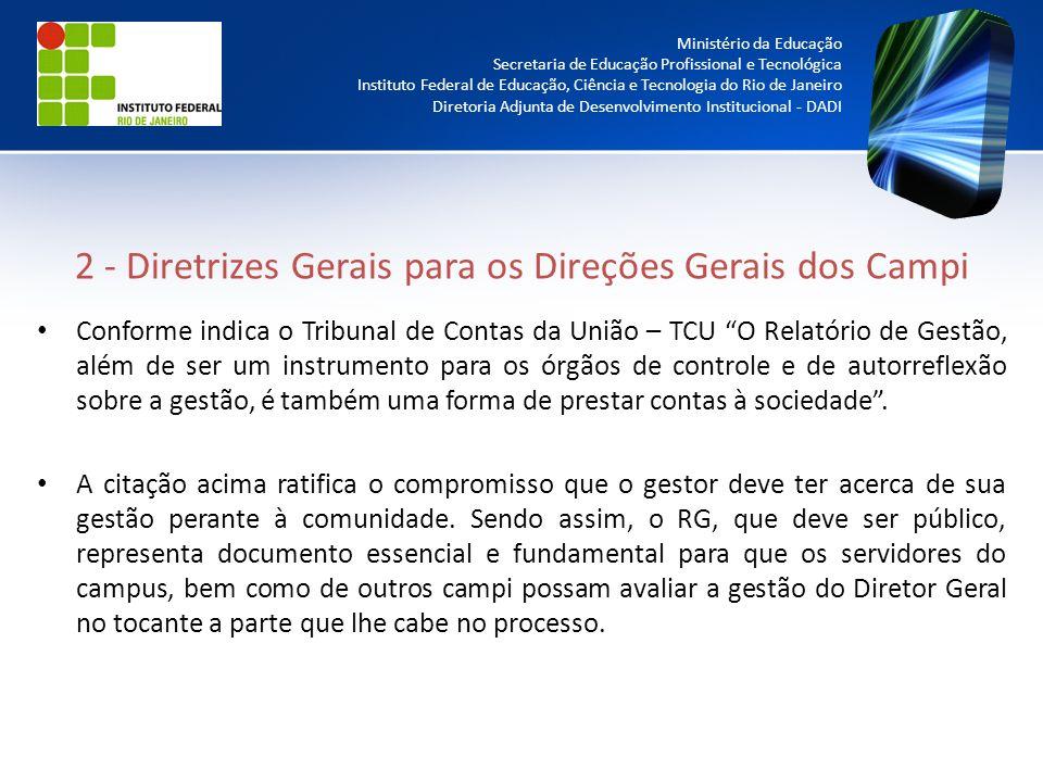 2 - Diretrizes Gerais para os Direções Gerais dos Campi
