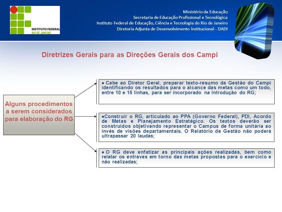Diretrizes Gerais para as Direções Gerais dos Campi