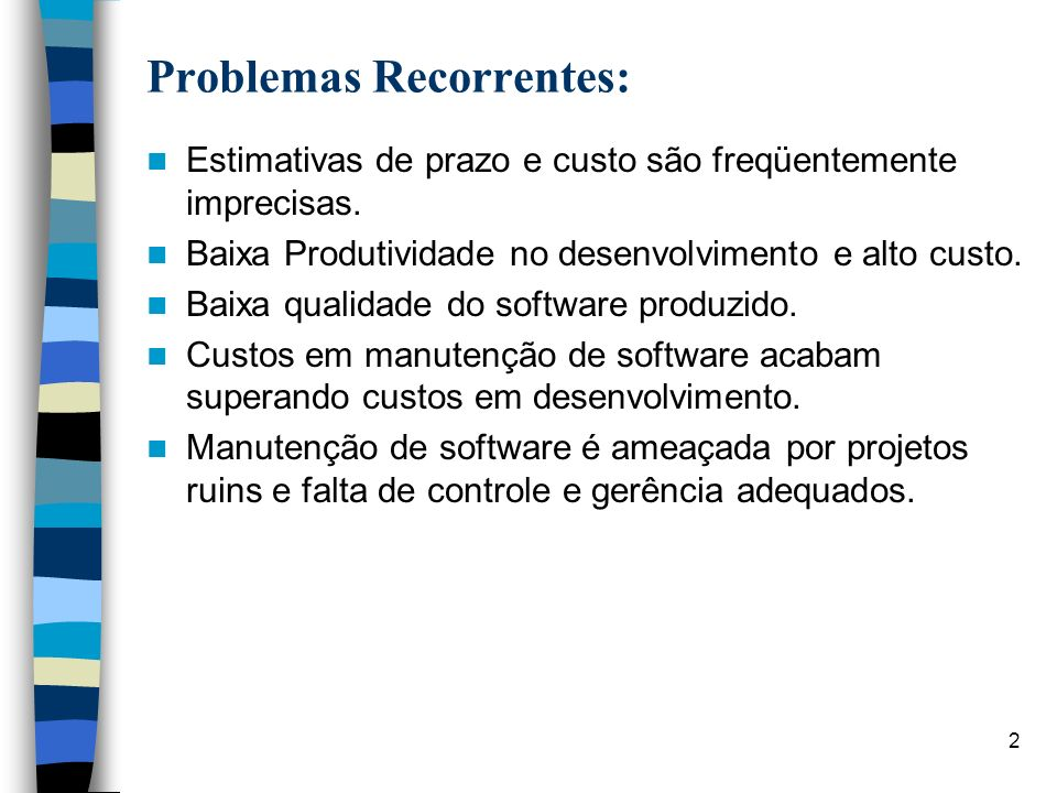 Problemas Recorrentes: