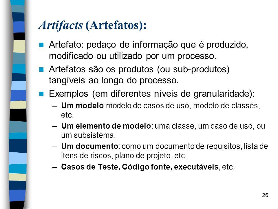 Artifacts (Artefatos):