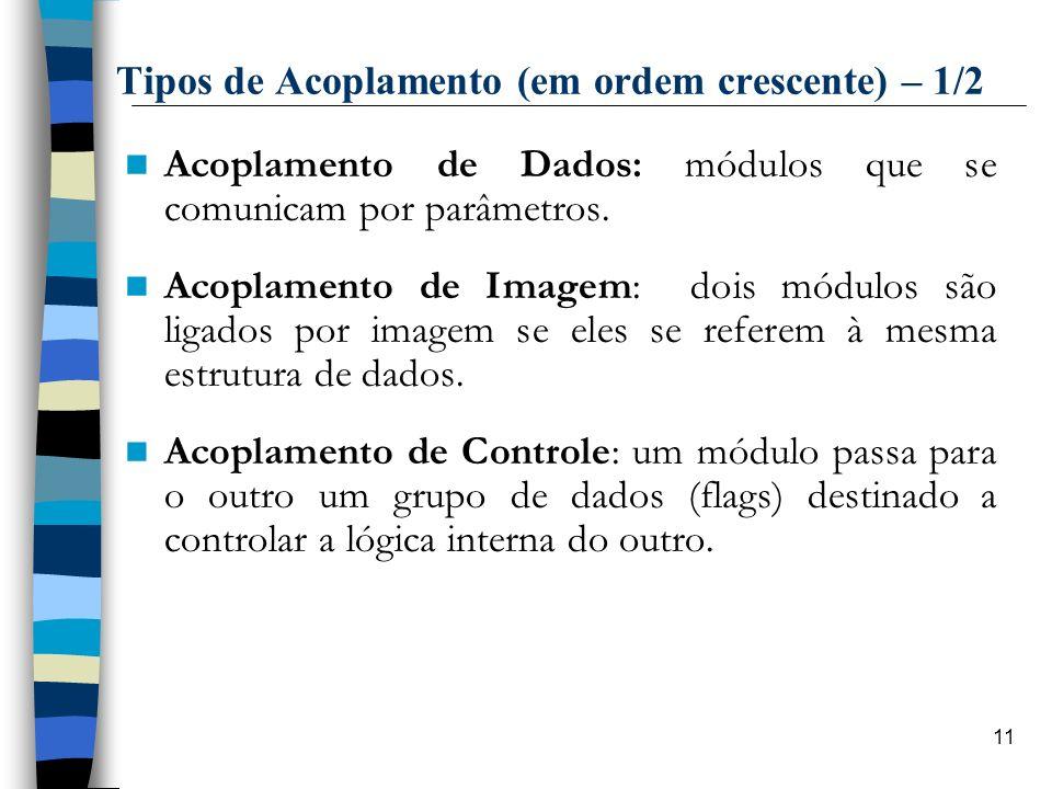 Tipos de Acoplamento (em ordem crescente) – 1/2