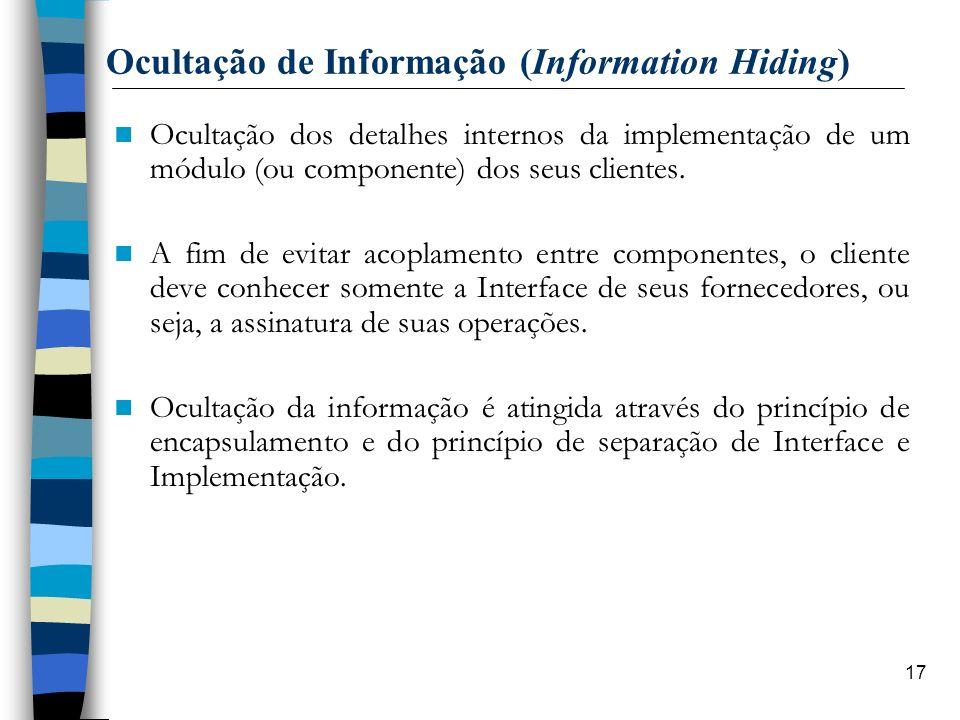 Ocultação de Informação (Information Hiding)