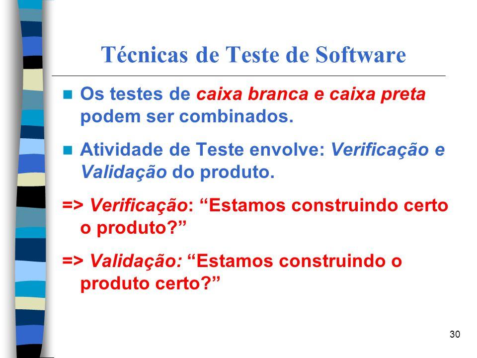 Técnicas de Teste de Software