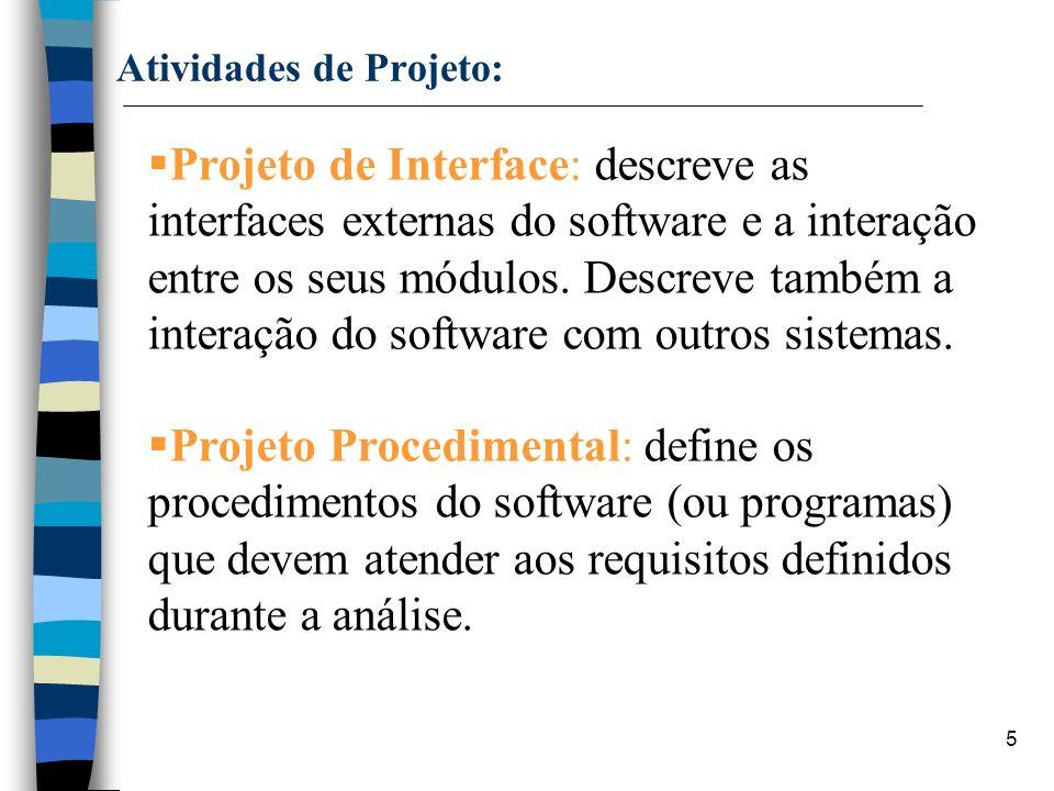Atividades de Projeto: