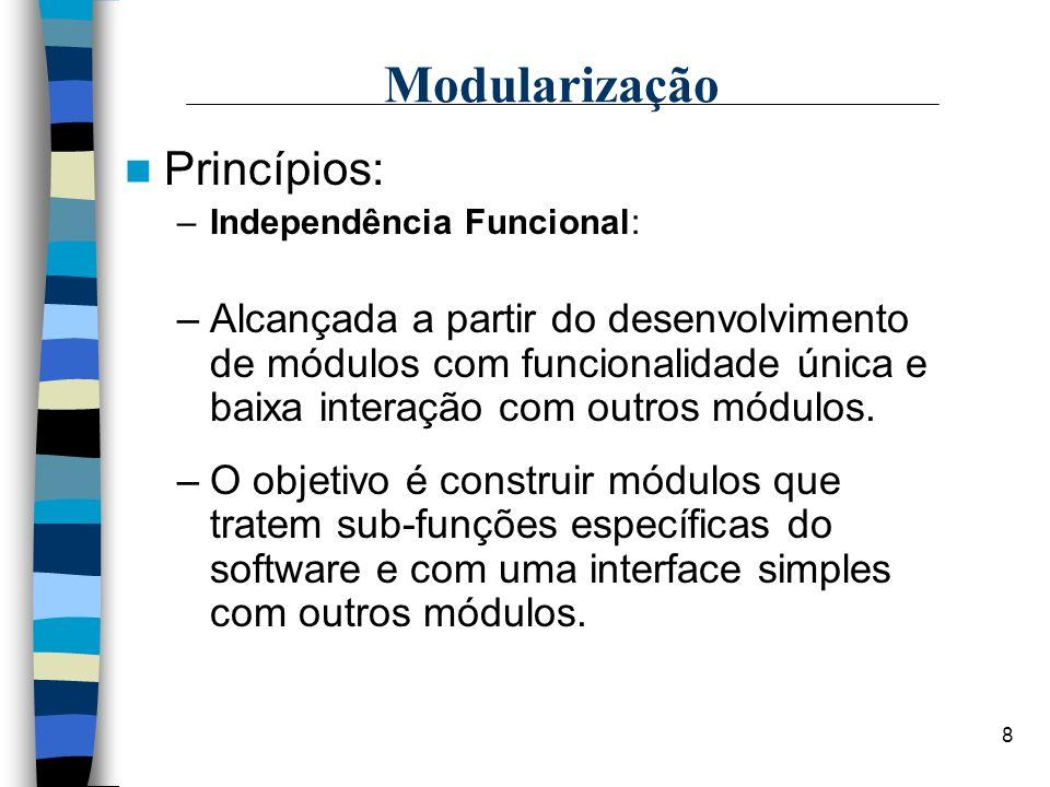 Modularização Princípios: