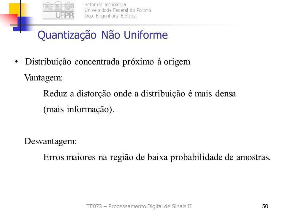 Quantização Não Uniforme