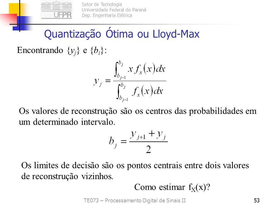 Quantização Ótima ou Lloyd-Max
