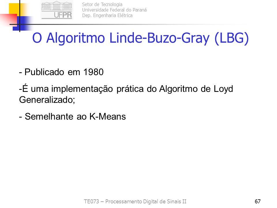 O Algoritmo Linde-Buzo-Gray (LBG)