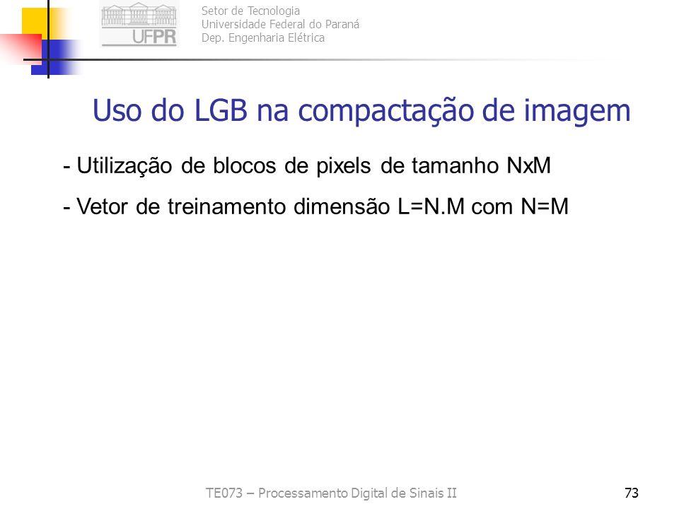 Uso do LGB na compactação de imagem