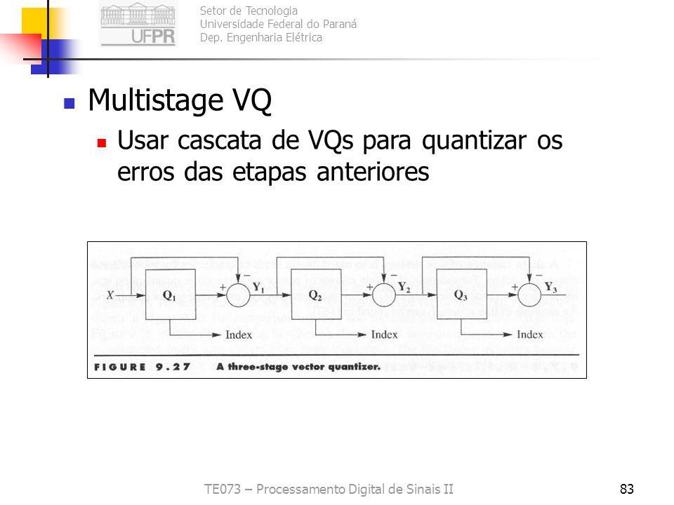 TE073 – Processamento Digital de Sinais II