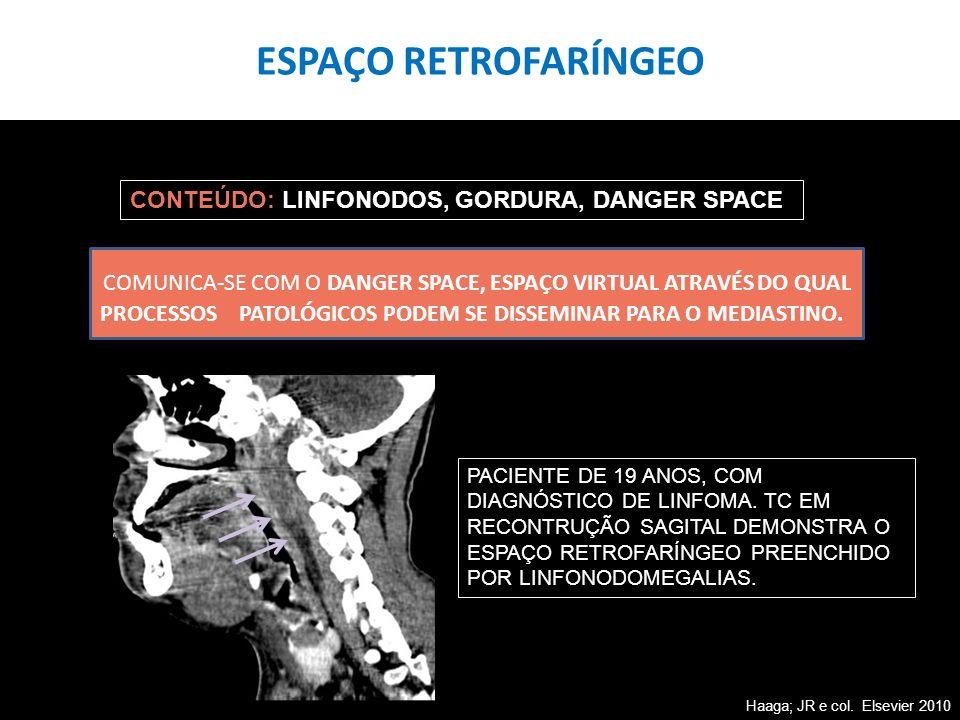 ESPAÇO RETROFARÍNGEO CONTEÚDO: LINFONODOS, GORDURA, DANGER SPACE.
