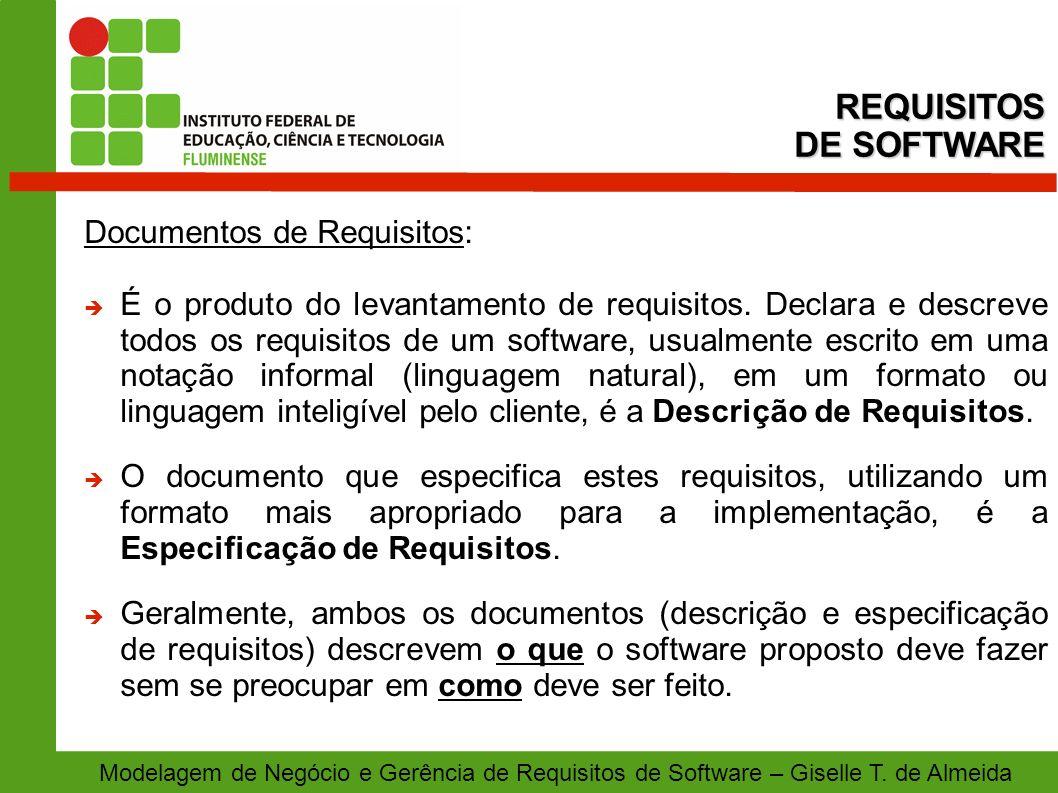 REQUISITOS DE SOFTWARE Documentos de Requisitos: