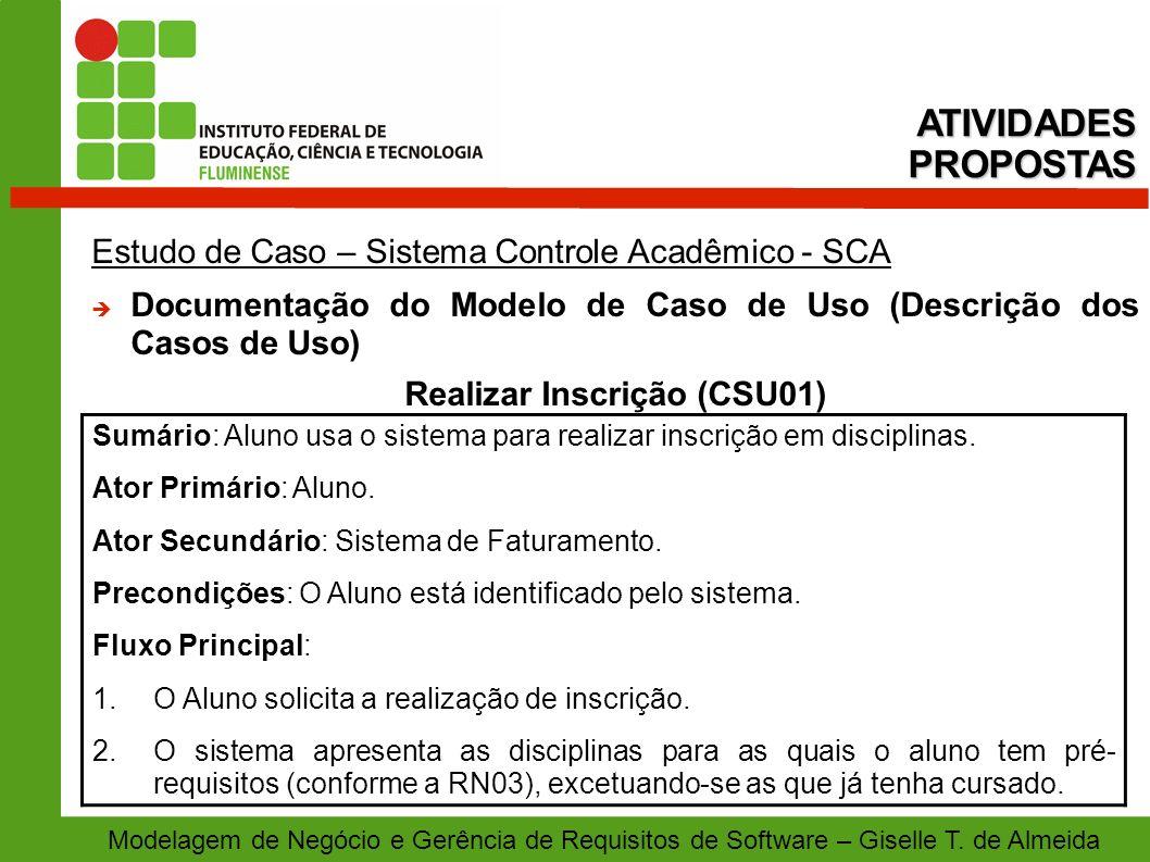 Realizar Inscrição (CSU01)