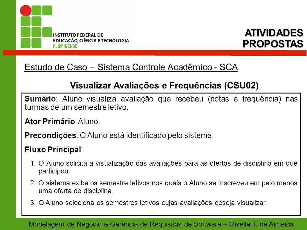 Visualizar Avaliações e Frequências (CSU02)