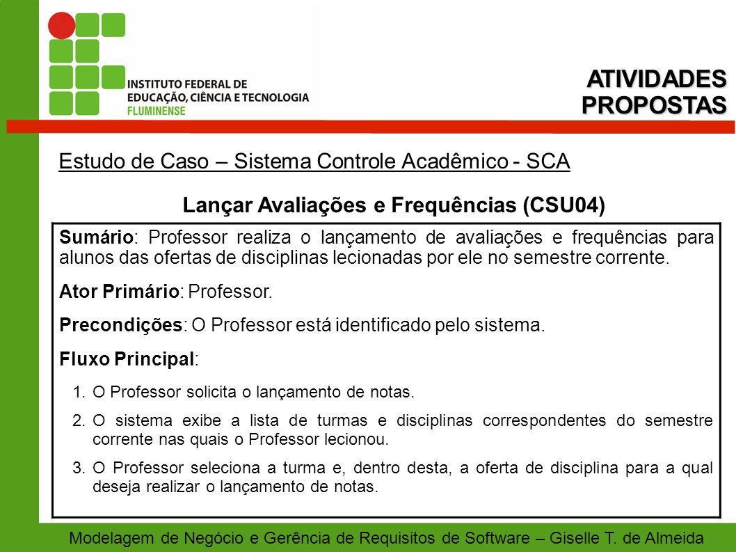 Lançar Avaliações e Frequências (CSU04)