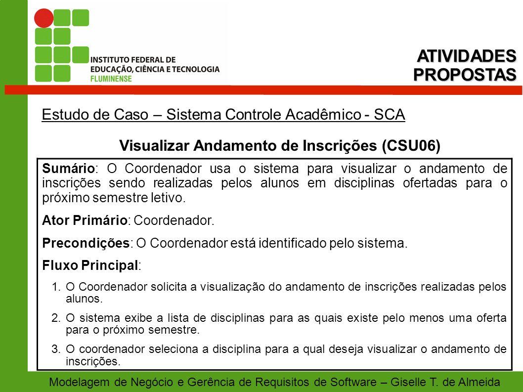 Visualizar Andamento de Inscrições (CSU06)