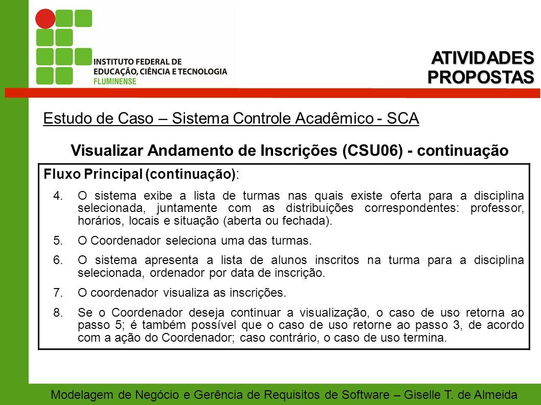 Visualizar Andamento de Inscrições (CSU06) - continuação