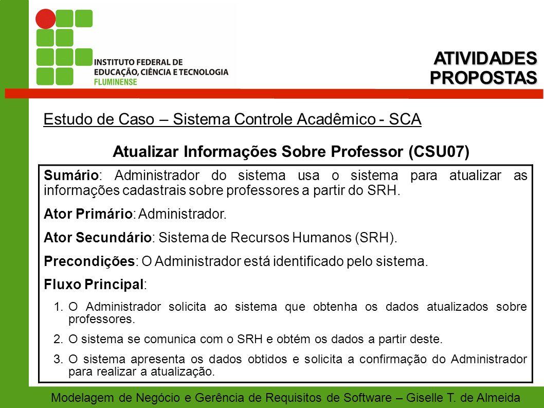 Atualizar Informações Sobre Professor (CSU07)