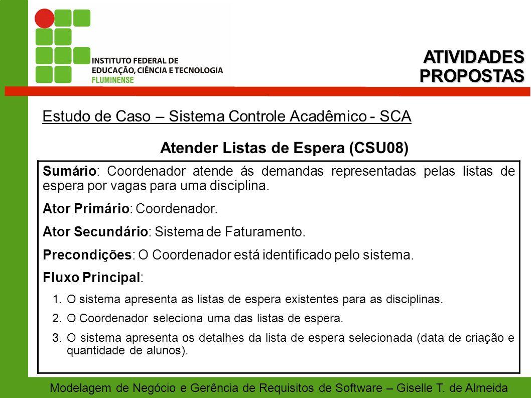Atender Listas de Espera (CSU08)