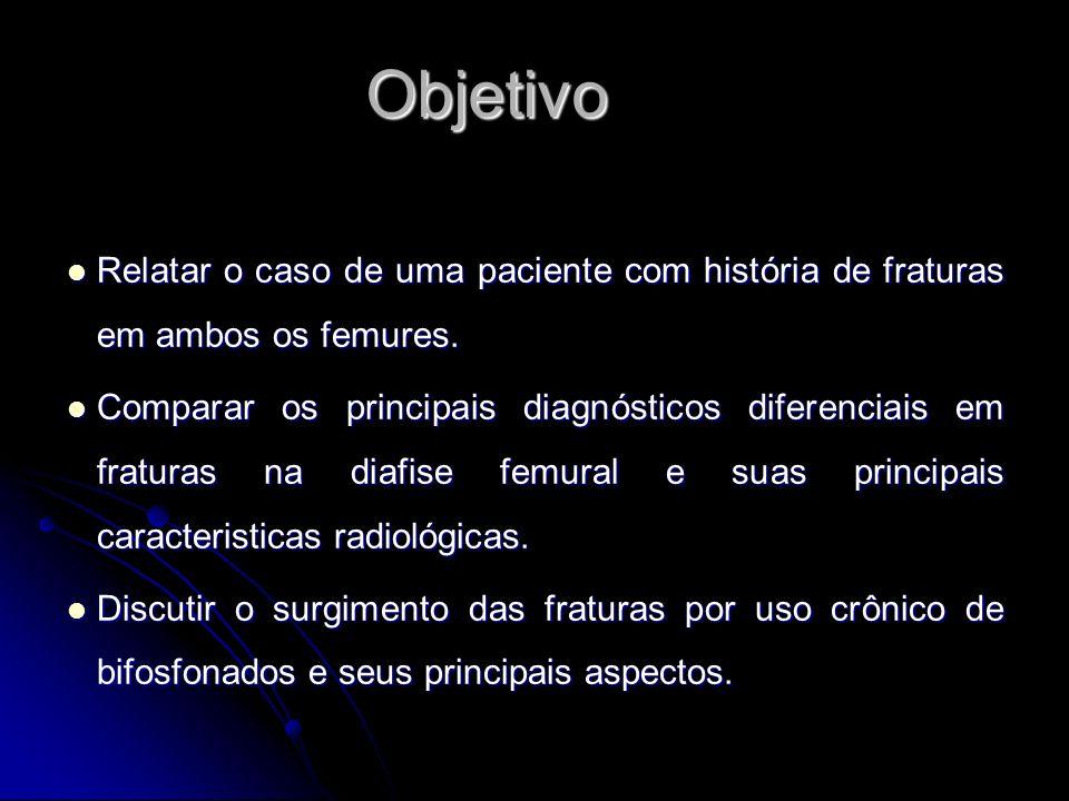 ObjetivoRelatar o caso de uma paciente com história de fraturas em ambos os femures.
