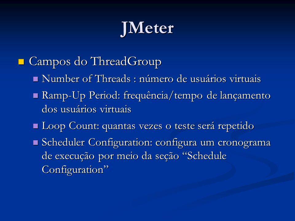 JMeter Campos do ThreadGroup
