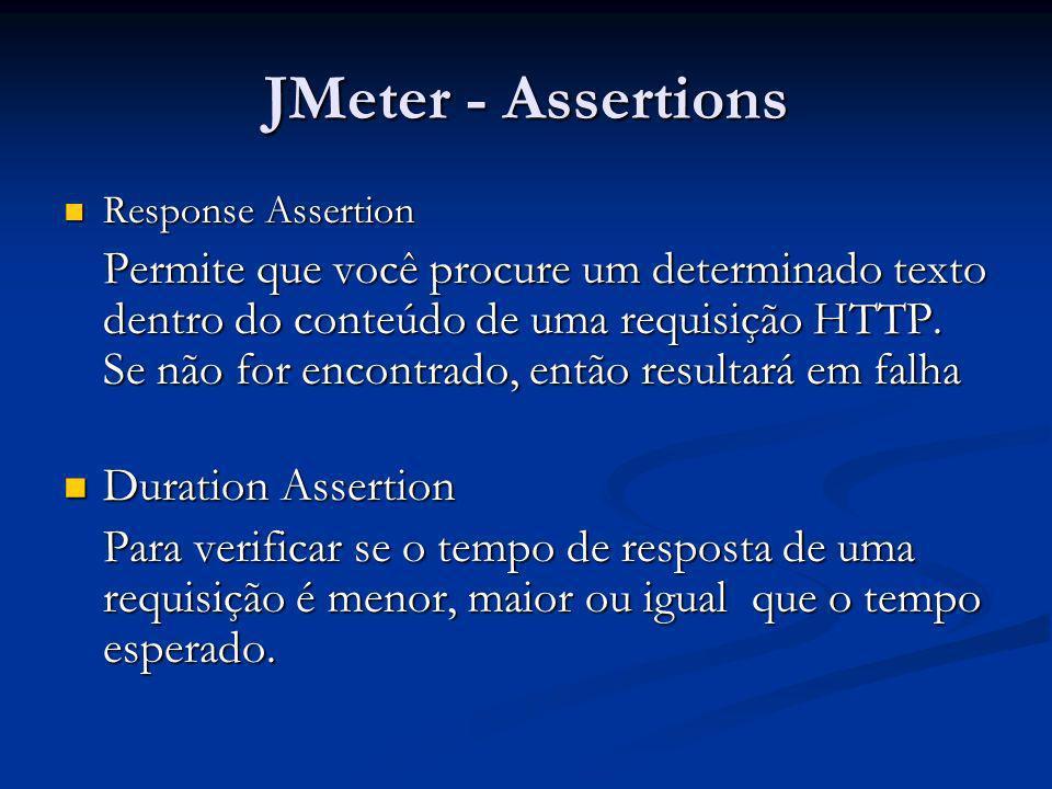 JMeter - AssertionsResponse Assertion.