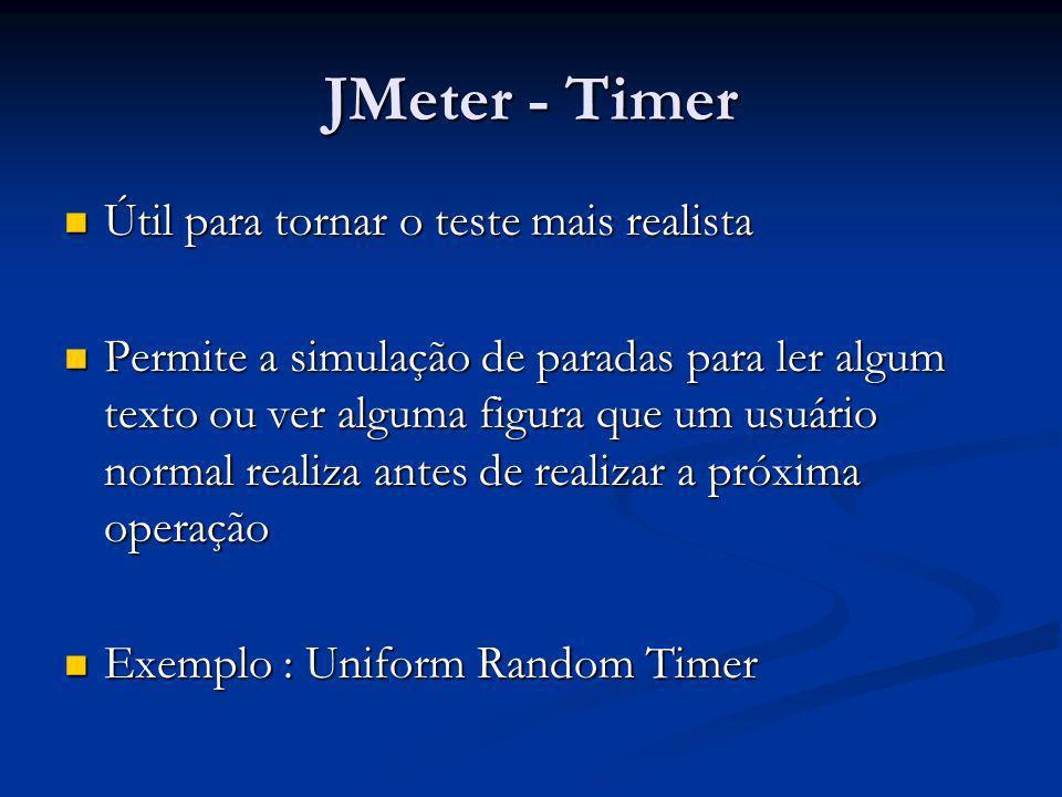JMeter - Timer Útil para tornar o teste mais realista