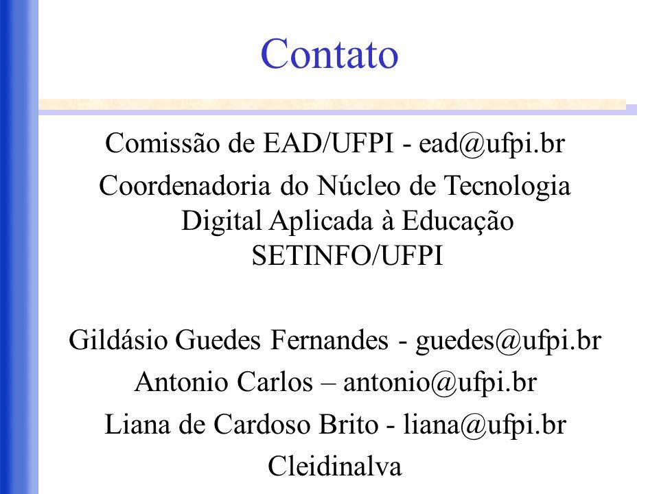 Contato Comissão de EAD/UFPI - ead@ufpi.br