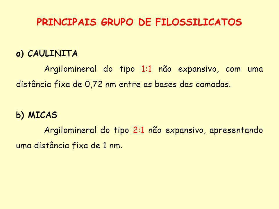 PRINCIPAIS GRUPO DE FILOSSILICATOS