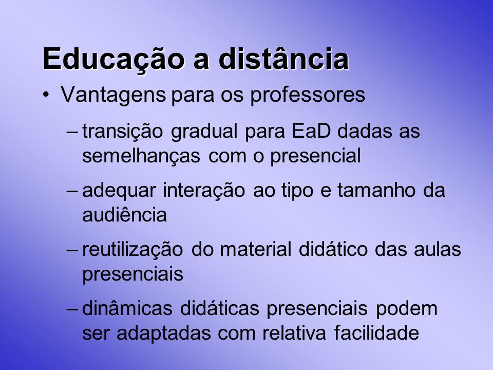 Educação a distância Vantagens para os professores