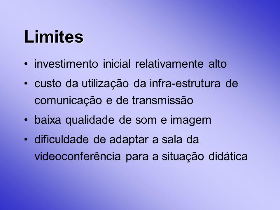 Limites investimento inicial relativamente alto