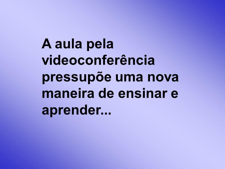 A aula pela videoconferência pressupõe uma nova maneira de ensinar e aprender...