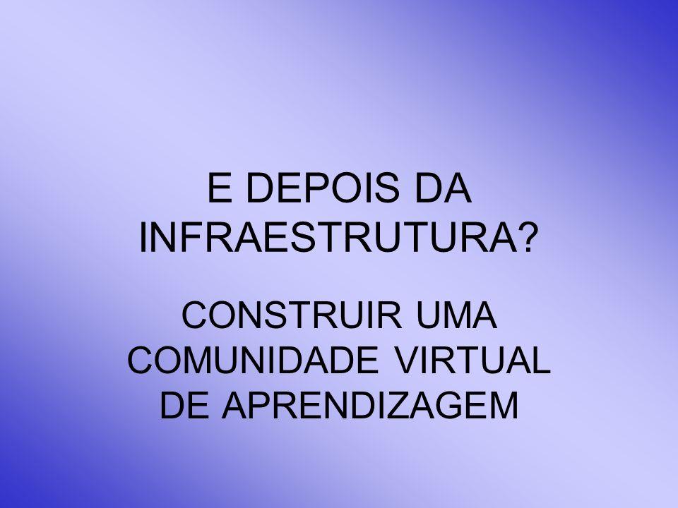 E DEPOIS DA INFRAESTRUTURA