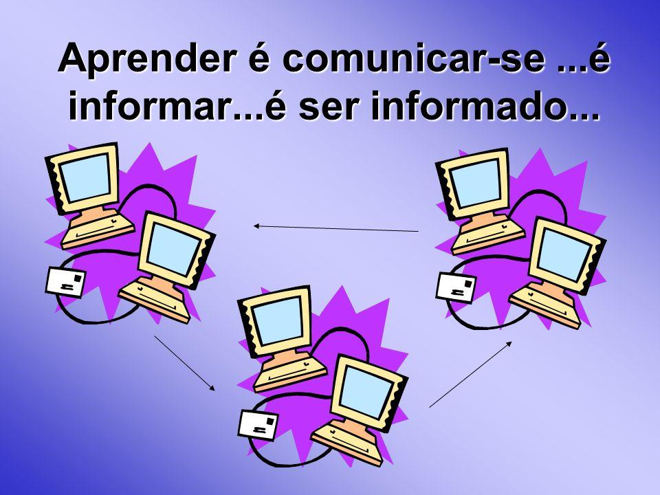 Aprender é comunicar-se ...é informar...é ser informado...