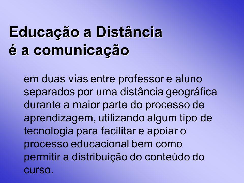 Educação a Distância é a comunicação
