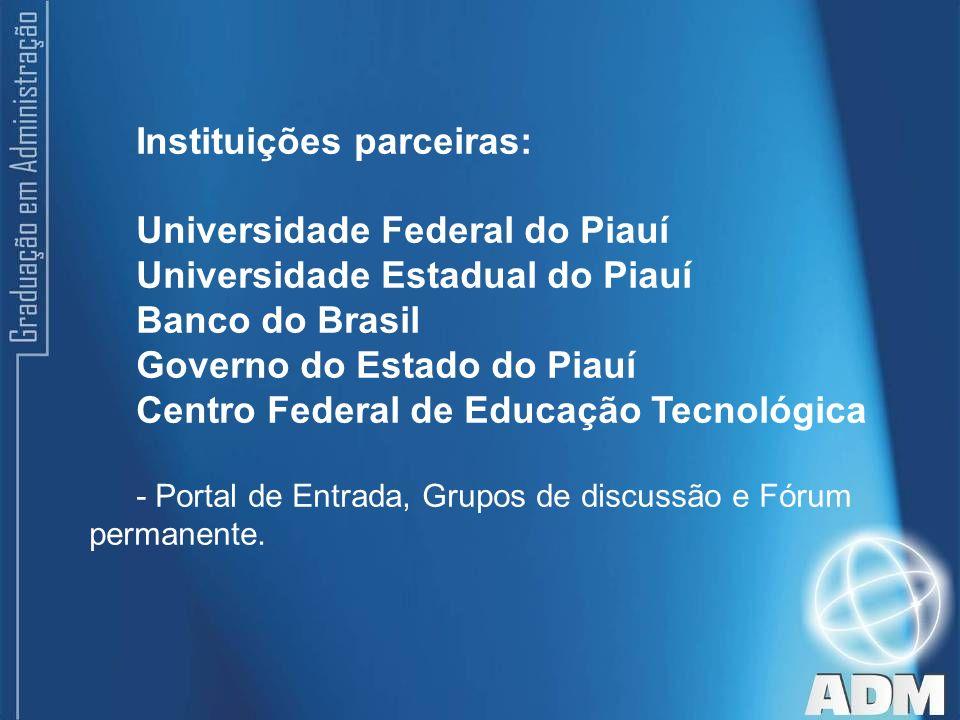Instituições parceiras: Universidade Federal do Piauí
